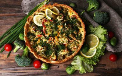 Vegetarische groententaart